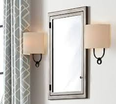 Bathroom Mirror Cabinets Wall Mounted Recessed Medicine Cabinets Pottery Barn