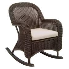 Rocking Chair With Cushions Classic Wicker Plantation Rocker With Cushions By Summer Classics