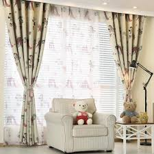 Nursery Curtains Sale Beige And Purple Animal Print Polyester Nursery Curtains On Sale