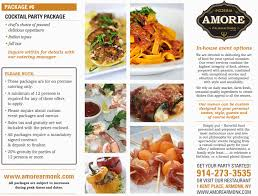 in house event menu u2013 amore armonk