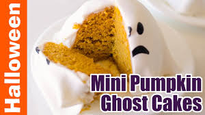 pumpkin cakes halloween simple 30 minute pumpkin mini ghost cakes halloween desserts
