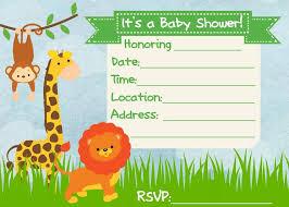 theme invitations safari baby shower invitations ideas all invitations ideas