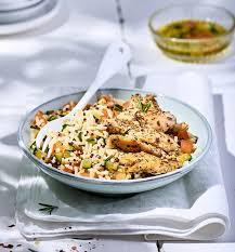 cuisiner du quinoa poulet aux herbes de provence mélange riz et quinoa lustucru