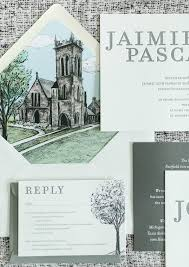 Bling Wedding Invitations Bilingual Wedding Invitations With A Beautiful Illustrated