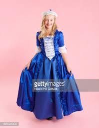 Colonial Halloween Costume Portrait Colonial Princess Dress Halloween Stock