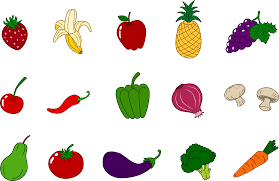 fruits and vegetables clipart set free clip art
