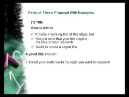 Parts of Thesis Proposal  Research Title  Somali Language as     Parts of Thesis Proposal  Research Title  Somali Language as Medium of Instruction