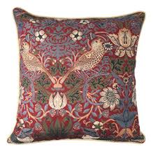william morris strawberry thief tapestry pillow at the huntington