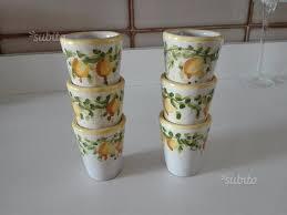 bicchieri in ceramica bicchieri limoncello ceramica vietri arredamento e casalinghi in