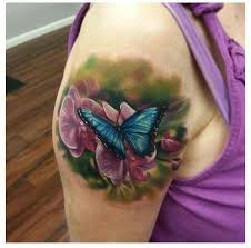 flower with butterfly tattoos flowers ideas for review