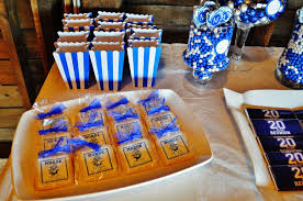 class reunions ideas rustic blue and white class reunion party ideas photo 10 of 25