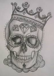 sugar skull king crown tattoos pinterest kings crown sugar
