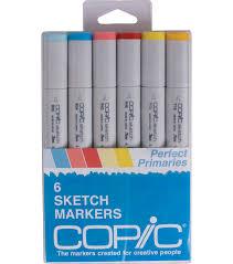 copic sketch marker 6 pkg perfect primaries joann