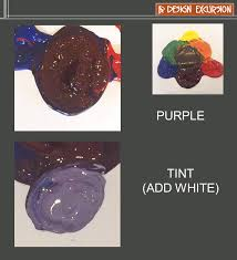 when you mix blue and red paint together you make purple when