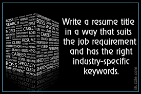 Make Your Resume Tips To Write An Effective Title To Make Your Resume Stand Out