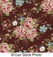 classic wallpaper seamless vintage flower classic wallpaper vintage flower pattern on pink background clipart