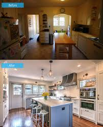 home design before and after before and after seattle kitchen renovation with added lighting