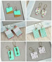 cardboard earrings diy jewellery tutorial chipboard earrings daily inspiration