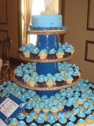 tiered whale baby shower cake