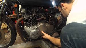 kz750 starter clutch rebuild flywheel removal video youtube