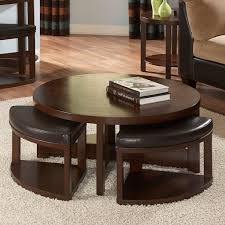 Famous Coffee Table Famous Round Coffee Table With Chairs Underneath Top Photo Stools