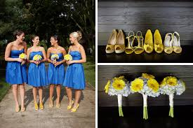 pinterest flowers for wedding blue and yellow blue and yellow