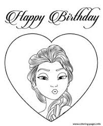 beautiful elsa gifts coloring page disney frozen birthday