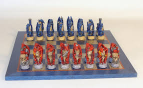 dragon themed chess sets hand painted resin chessmen