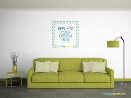 Livingroom Wallpaper Free Wall Mockup On Behance