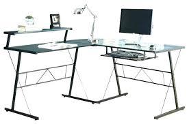black l shaped computer desk l shaped desk glass firegrid org