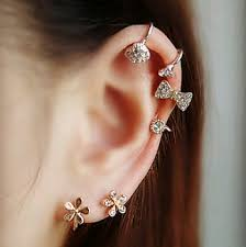 ear ring image 3ps random diamond earring clip earclip16 9 74 fashion