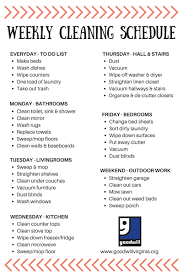 cleaning ideas cleaning schedule made simple goodwill virginia