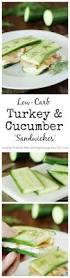 low carb smoked turkey u0026 cucumber u0027sandwiches u0027 low carb lunch