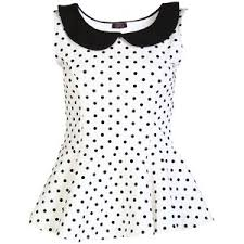 polkadot top polka dot peplum top polyvore