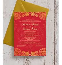 asian wedding invitations gold indian asian wedding invitation from 1 00 each