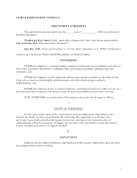 100 template employment agreement simple consulting