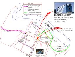 Dubai Metro Map by New Horizons Dubai Uae Locations