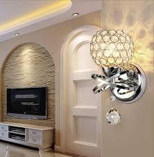 Hallway Wall Sconces Sunsbell Modern Luxury Crystal Wall Light Chrome Finish Wall