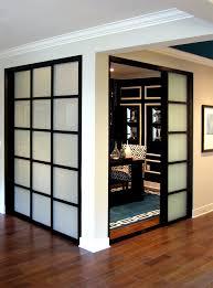 cabinet doors that slide back wall slide doors with laminated glass black frame inspirational