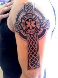 celtic firefighter maltese cross chest and shoulder