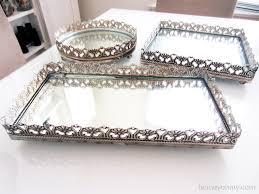 Vanity Fair Bra 75392 Crystal Mirrored Vanity Tray Home Vanity Decoration