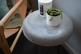 Concrete Side Table Diy Concrete Side Table