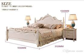 white thailand rubber wood solid wood bedroom furniture with