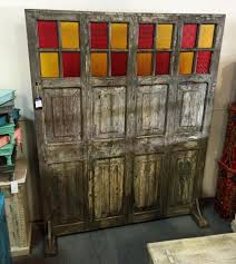 gorgeous room divider partition made of reclaimed doors artisan