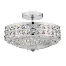 chrome flush mount light a traditional semi flush ceiling light in polished chrome with crystal