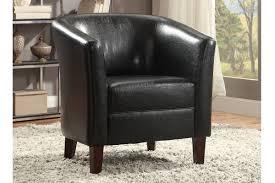 Black Leather Accent Chair Accent Chair Accent Chair Living Room Furniture Showroom