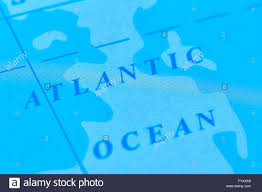 Atlantic Ocean On A World Map by Atlantic Ocean On The World Map Stock Photo Royalty Free Image