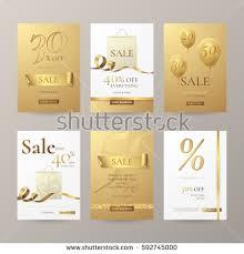 set stylish horizontal banners paper shopping stock vector