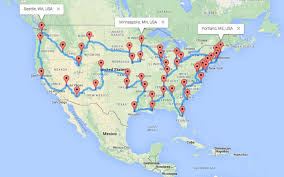 united states map with popular cities the ultimate motorcycle road trip across the us the usa trailer