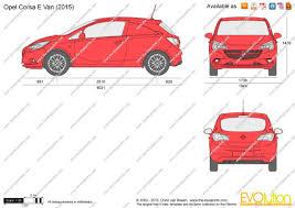 opel van the blueprints com vector drawing opel corsa e van